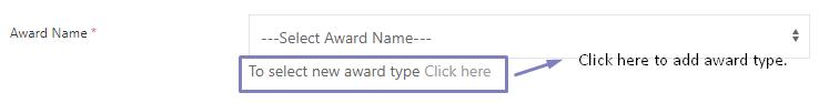 SHIFTHRM Add Award Type