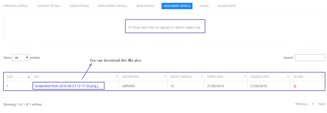SHIFTHRM Employee Upload document